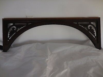 "Antique accent piece, Late 1800"" Salvaged decorative wood embellishment."