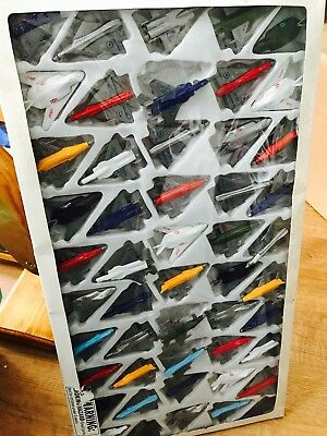 Set of 50 small airplanes in various designs