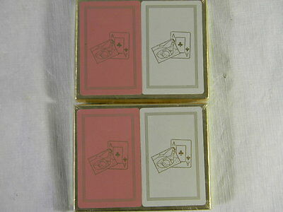 Vtg Lot of 4 Decks of Playing Cards New Golf Theme