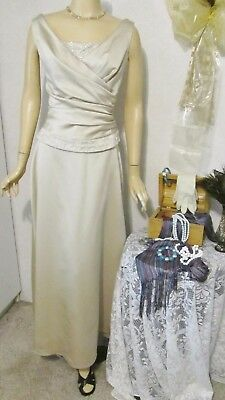 Mother Of The Bride Dress by Impressions-Size 12-Skirt/Top-Sand Beaded