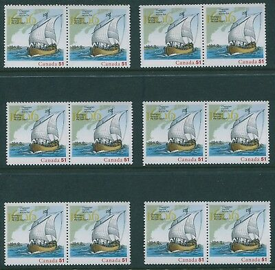 Canada #2156a 51c Champlain from S/S 23 Copies VF NH Cat $40.25 Face $11.73 s163