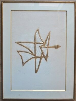 Georges Braque Lowenfeld Bijoux Asteria Or 23 Carats Lithographie Originale sign