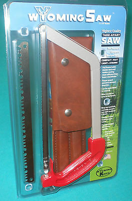 Wyoming Saw with Leather Case - New! Takes 11 in blade
