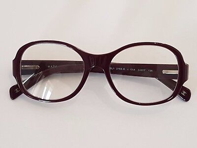 CHANEL Eyeglasses Purple 50-17 Frame made in Italy