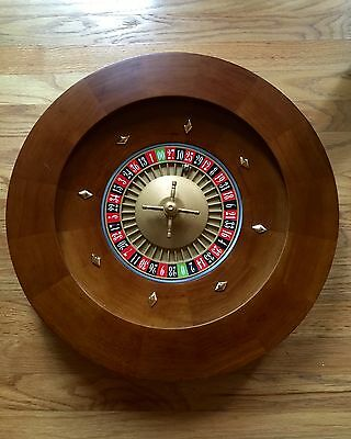 "BRAND NEW 20"" Solid WOOD Professional Roulette Wheel - 28 lbs! Casino"