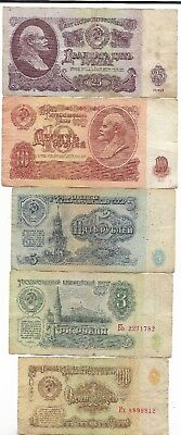 Rare Old CCCP Cold War Vintage Russian Rubles Dollar LENIN Note Collection Lot A