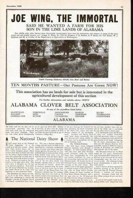 1928 Alabama Clover Belt Pastures Cattle Country Ad7021
