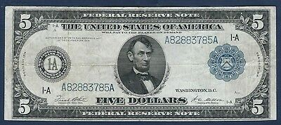 1914 $5 *Boston* (FR#847A) Large Federal Reserve Note *Free S/H After 1st Item*