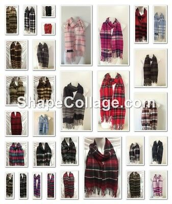 Wholesale 23Pcs $4.00 Each 100% Cashmere Scarf Made In Scotland Plaid Mix Design