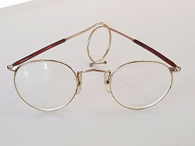 Vintage ALGHA Eyeglasses 12KT GF with Coiled Arms made in England