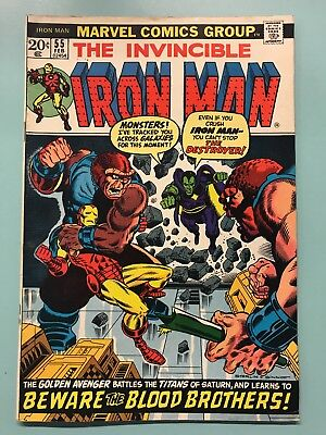 Iron Man #55 (Feb 1973, Marvel) First Appearance of Thanos !! Movie