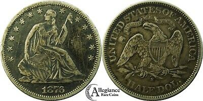 1876-S 50c Seated Liberty Half Dollar XF EF+ details rare old type coin money