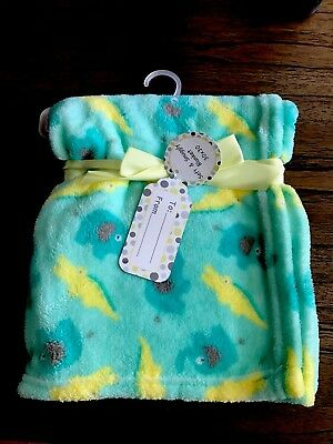 "Plush Baby Blanket Gift Soft NWT Gift Tag Gators 30""x 30"""