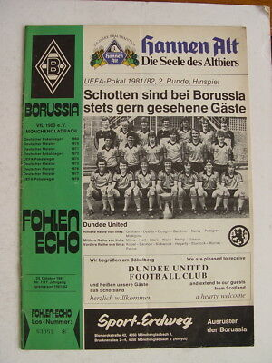 Borussia Monchengladbach v Dundee United 1981/82 UEFA Cup