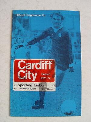 Cardiff City v Sporting Lisbon 1973/74 Cup Winners Cup