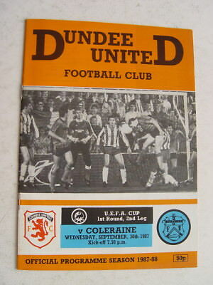 Dundee United v Coleraine 1987/88 UEFA Cup