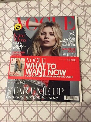 VOGUE UK Magazine - May 2016 - Kate Moss
