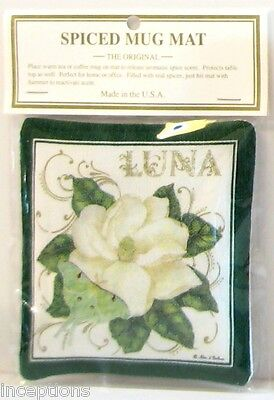 Alice's Cottage Cotton Scented Spiced Mug Mat Coaster Magnolia - NEW
