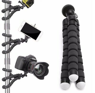 Camera GoPro DSLR Flexible Tripod Gorilla Octopus Monopod Mount Stand Holder 1/4
