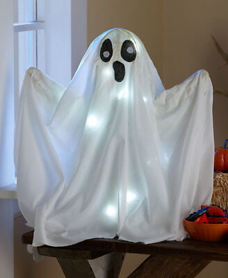 """Halloween 20"""" T Floating Standing Ghost with LED White Lights ScArY New"""