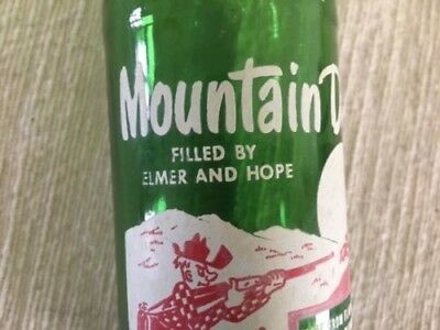Vintage 10 Ounce Mountain Dew Bottle FILLED BY ELMER AND HOPE