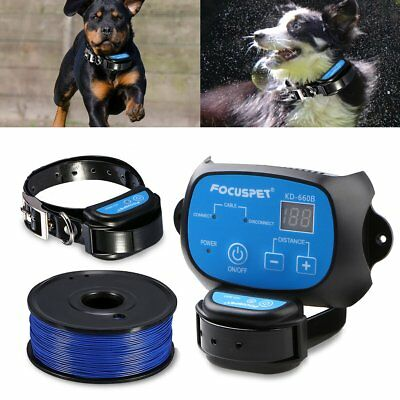 Ground Dog Fence System Outdoor Invisible Electric Wired Dog Rechargeable Collar