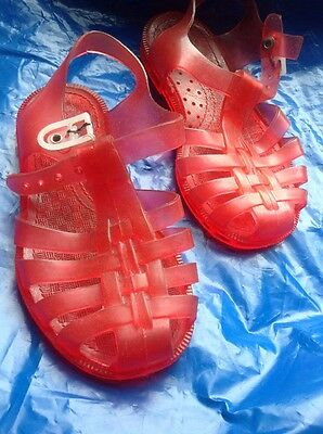 Vintage Jellies Child Size 24 Red
