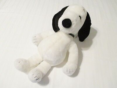 "18"" Vintage United Feature 1968 Peanuts Snoopy Plush Toy w/ Black Collar Korea"