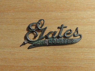 Vintage Gates Chocolates Tin Advertising Tag