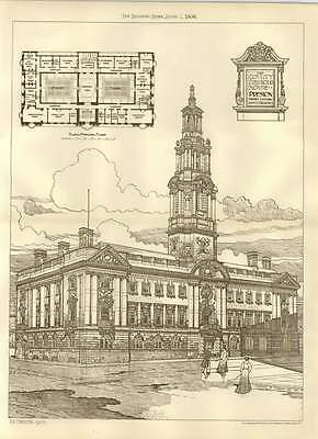 1906 The County Sessions House In Preston Henry Littler