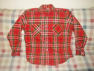 Vtg JC PENNEY BIG MAC PLAID FLANNEL LUMBERJACK WORK SHIRT Men's Size Large