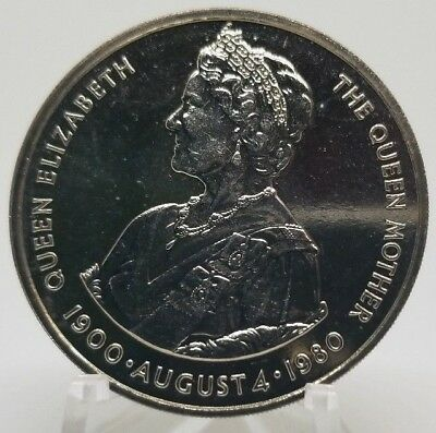 1980 Falkland Islands 50 Pence - 80th Birthday Queen Mother