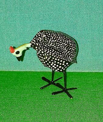 African Seed Pod Bird Hand Made and Painted Guinea Fowl Last One