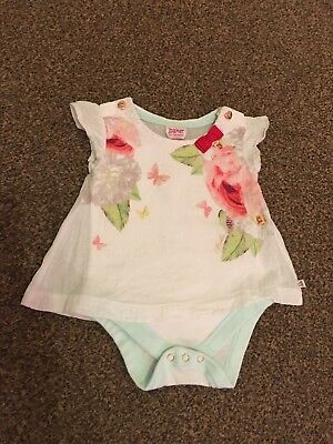 Ted Baker Baby Girls 3-6 Month T-shirt / Top Vest.