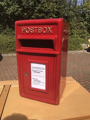 Cast Iron Red Post Box. Open To Offers.