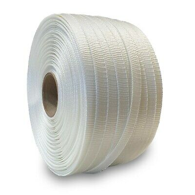 "White Polyester Cord Strapping 3/4""x2500' ($96.05 per roll / 2 Roll Case)"
