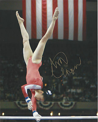 USA Gold Medalist Amy Chow  great autographed  8x10 photo Magnificent Seven*