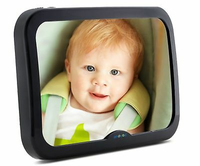 Enovoe Baby Backseat Mirror - Large, Wide, Clear View, Convex Back Seat Car Mirr