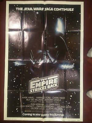 Star Wars Empire Strikes Back One Sheet Advance Teaser Original 27 X 41 Poster