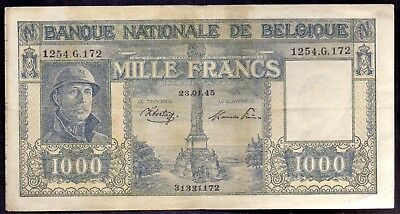 1000 Francs From Belgium 1945