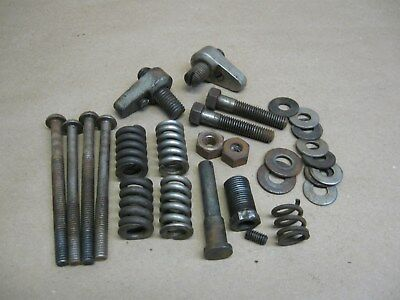 Vtg Koken Barber Chair Recline Brake Stop Parts Springs Bolts Nuts Washers