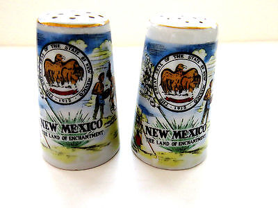 Vintage NEW MEXICO Souvenir Salt Pepper Shakers by Thrifco Land of Enchantment