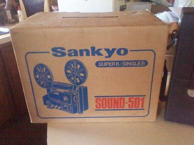 Vintage Sankyo Super8/single8 501 Sound Projector And Sound Xl40S Camera In Box