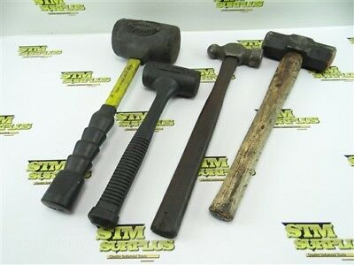4Pc Lot Of Machinists Hammers Ball Pein + Dead Blow + Sledge