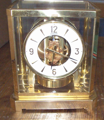 Vintage Jaeger Lecoultre Atmos Clock 50's early 60's as-is for parts broken