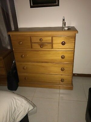 Bedside and Chest of Drawers - Matching bedroom set
