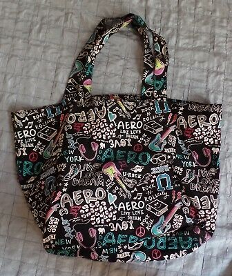 AEROPOSTALE BAG Canvas Tote Bag 1980's Theme and NYC in Great Condition
