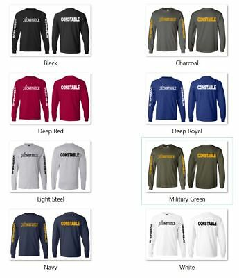 Constable Law Enforcement Police Long Sleeve Shirts S-3XL