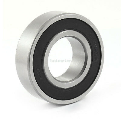 6205RS 52x 25mm x 15mm Roller-Skating Deep Groove Ball Wheel Bearing Silver Tone