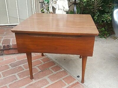 American Of Martinsville Mid-century Modern Walnut Child's Desk or side writing